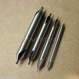 HSS-Center-Drill-Set-4-Piece-60-Deg-5-7-1-0-1-5-mm