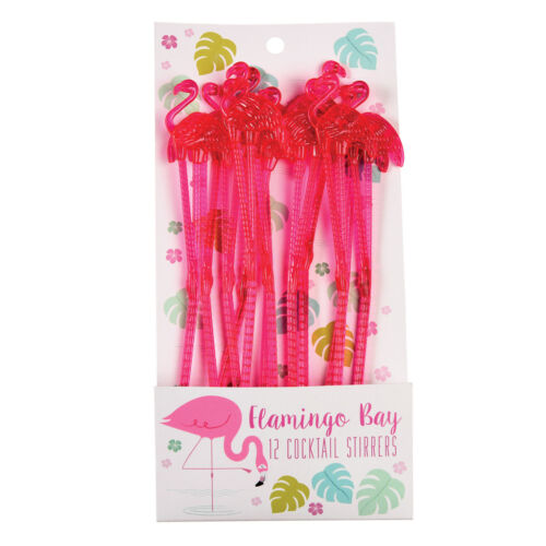 REX London flamingo cocktail agitateurs Pack de 12