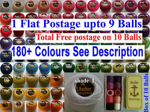 1-ANCHOR-Pearl-Cotton-8-Crochet-Embroidery-Thread-Ball-1-Flat-Free-Postage-on-10