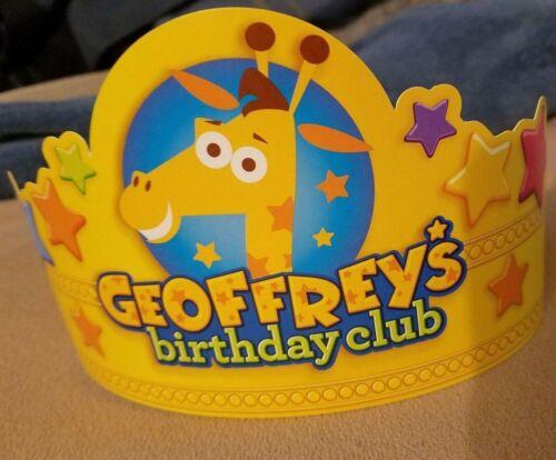 New Toys R Us Exclusive Geoffrey Giraffe Birthday Club Crown Collectible TRU BRU