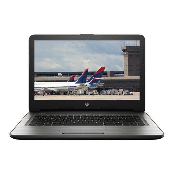 """HP 14-AM090TU (Laptop) Ci3-5thGen/4GB/1TB/Win10+MS Office/14.0""""/Silver"""