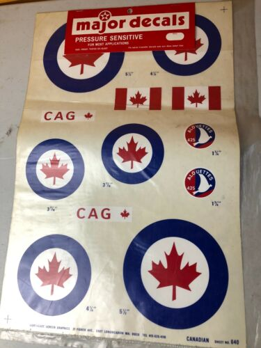 Country Pressure Sensitive Decal Sets Canadian Japan Polish 20 x 13 inches