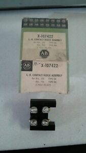 ALLEN-BRADLEY-X107422-L-H-CONTACT-BLOCK-ASSEMBLY-BUL-200-700-TYPE-EX-BX-NEW