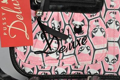 PUSSY DELUXE TASCHE SCHULTERTASCHE MESSENGER pink NEU