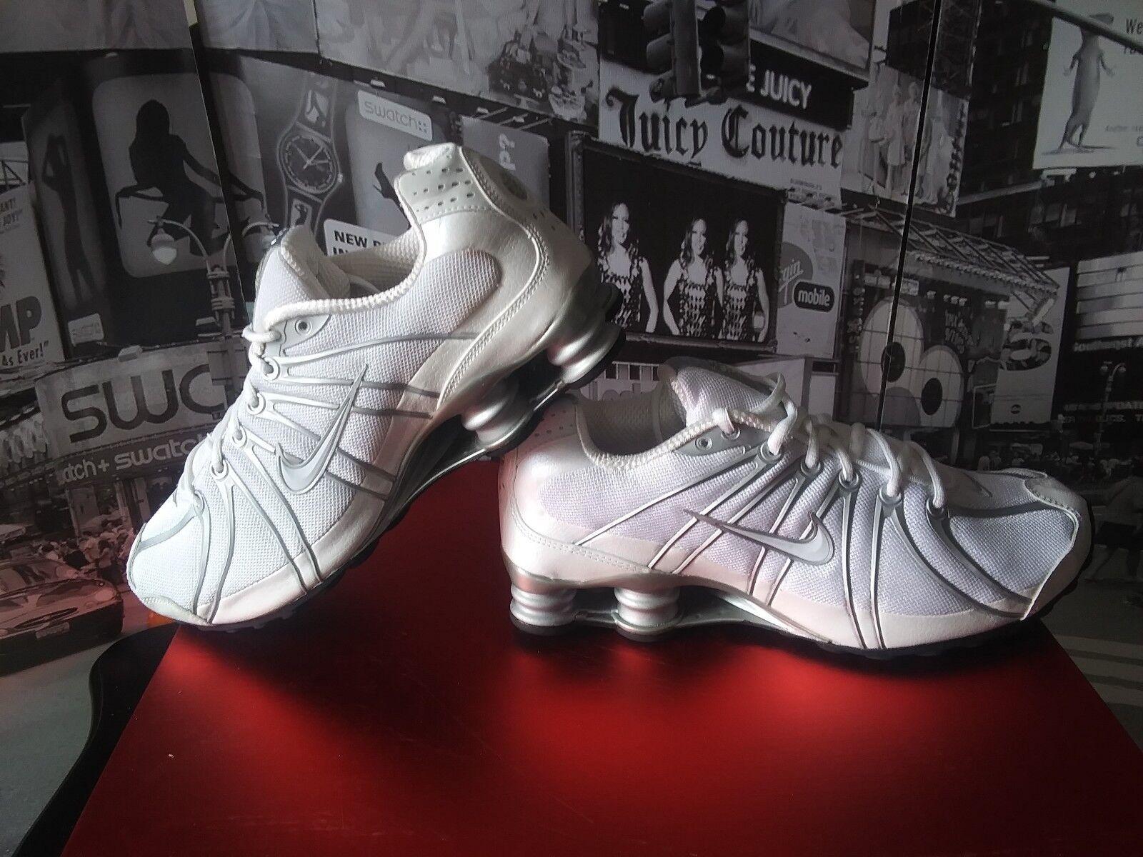 2008 MEN'S Nike Shox Turbo OZ MESH White  Silver shoes Size 9.5 NEW