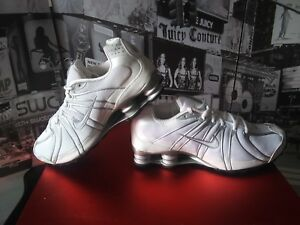 2612735a061c 2008 MEN S Nike Shox Turbo OZ MESH White  Silver Shoes Size 10.5 EU ...