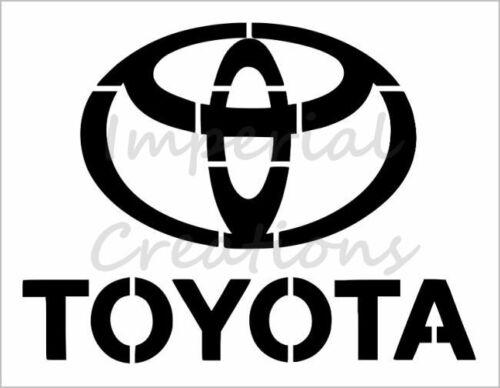"""/""""TOYOTA/"""" Car Truck Auto Logo 8.5/"""" x 11/"""" Stencil 20 Mil Plastic Sheet NEW S398"""