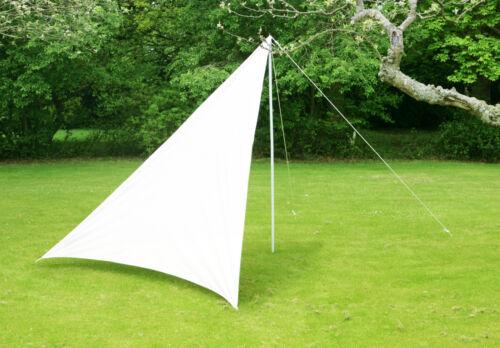 3m x 3m x 2,5m Dreieck Elfenbein Sonnensegel und Windschutz Sonnenschutz Garten