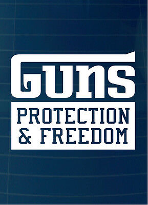"4/"" Guns /& Coffee Decal Sticker Car Truck Window Bumper Rights Laws Freedom USA"