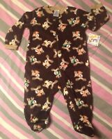 Garanimals Footed Sleep And Play Pajamas Long Sleeve Boy 6/9 Months Baby