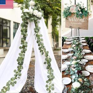 Details about US Artificial Eucalyptus Garland Faux Silk Leaf Vine Greenery  Wedding Decor