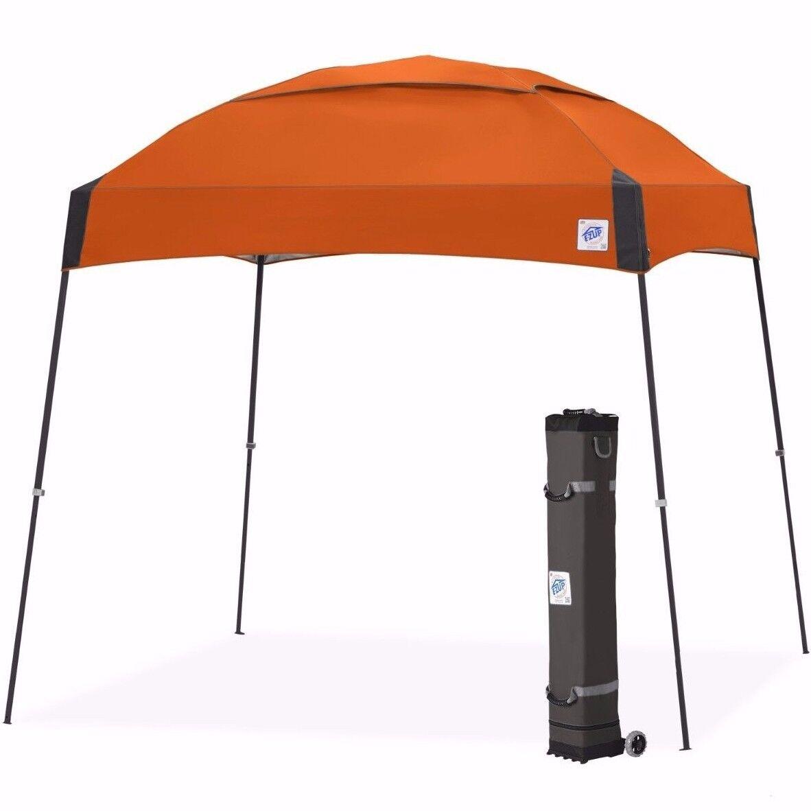E-Z UP Dôme Instantanée Shelter 10'x10' Auvent Pop Up Tente ventilé-Acier Orange