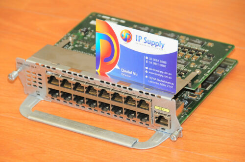 Cisco NME-16ES-1G-P Etherswitch Network Service Module w//16xFE+1xGE 6MthWtyTaxIn