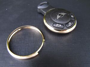SCHLUSSELRING-GOLD-PASSEND-FUR-MINI-ONE-COOPER-R55-R56-R57-R58-R59-R60-R61
