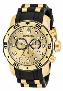 Invicta-17885-Men-039-s-Pro-Diver-Gold-Tone-Dial-Chronograph-Watch