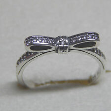 Authentic Pandora 190906CZ Sparkling Bow Ring Size 56 (7.5) Box Included