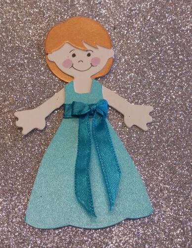 Belle medium demoiselle d/'honneur toppers//scrapbook figures 3 styles beaucoup de couleurs
