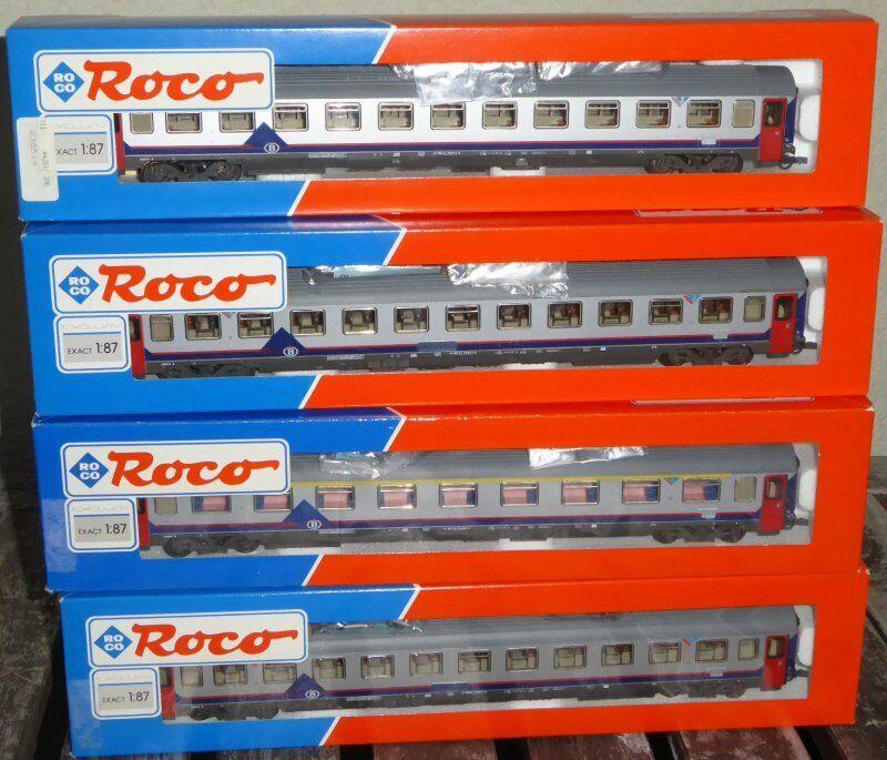 godendo i tuoi acquisti ROCO 44350, ROCO 3 x 44351 la raccolta raccolta raccolta Set 4 x EUROFIMA-treno rapido autoro SNCB ep.4 6  economico in alta qualità