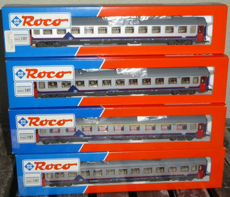 Roco 44350, roco 3 x 44351 colección set 6 x Eurofima-schnellzugwagen SNCB ep.4 6