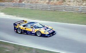 FERRARI-F40-GTE-MICHELOTTO-OLOFSSON-NOCE-BPR-PHOTOGRAPH-BRANDS-HATCH-1996-IGOL