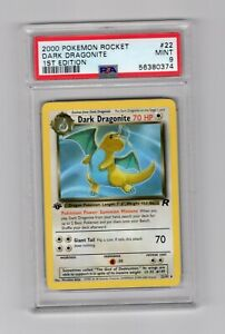 Pokemon 1st Edition Dark Dragonite 22/82 PSA 9 Mint
