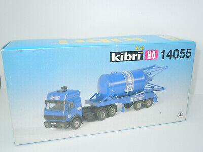 Neu Kibri H0 14043 MB LKW mit Siloauflieger Baustoffe