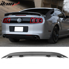 Fits 10 14 Ford Mustang Ls Style Trunk Spoiler Matte Black Abs Fits Mustang