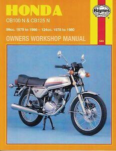 Image Is Loading Haynes Manual 0569 Honda CB100N Amp CB125N 78