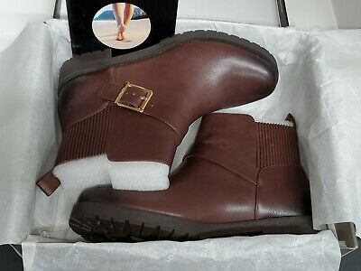 """Vionic /""""Mystic Mara/"""" CHOCOLATE BROWN  Leather Strap Ankle Boots Women/'s sizes"""