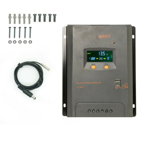 20//40//60//80A MPPT LCD Solar Panel Battery Charge Controller 12//24V+10x Screws WM