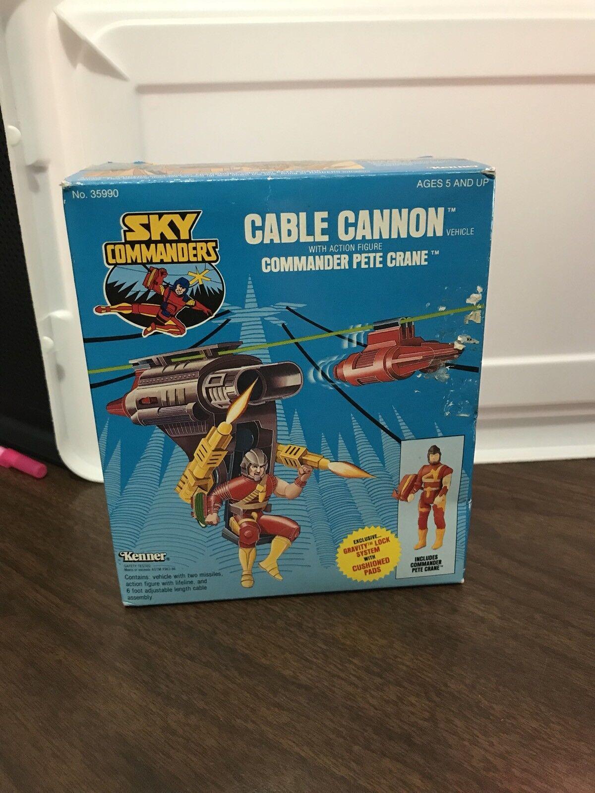 para proporcionarle una compra en línea agradable Vintage 1987 Kenner Sky comandantes Cable Cable Cable Cannon Completa  soporte minorista mayorista