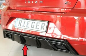 Seat-Ibiza-inc-FR-2017-on-RIEGER-Rear-Diffuser-Insert-Gloss-Black-ABS
