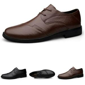 Details about  /38-48 Mens Business Leisure Faux Leather Shoes Oxfords Slip on Work Office New L