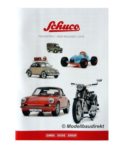 SCHUCO Nouveautés Catalogue 2019 modèles dans 1:18 1:32 1:43 1:72 voitures /& avions
