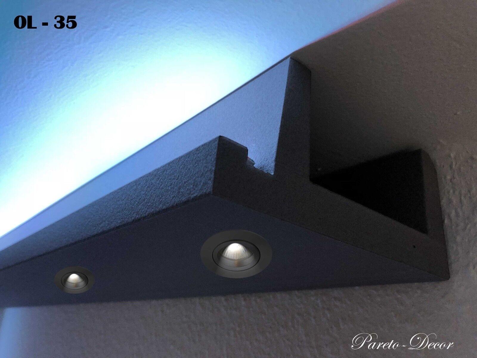 6 Meter LED Licht Bebauung Profil Spot für indirekte Beleuchtung XPS OL-35