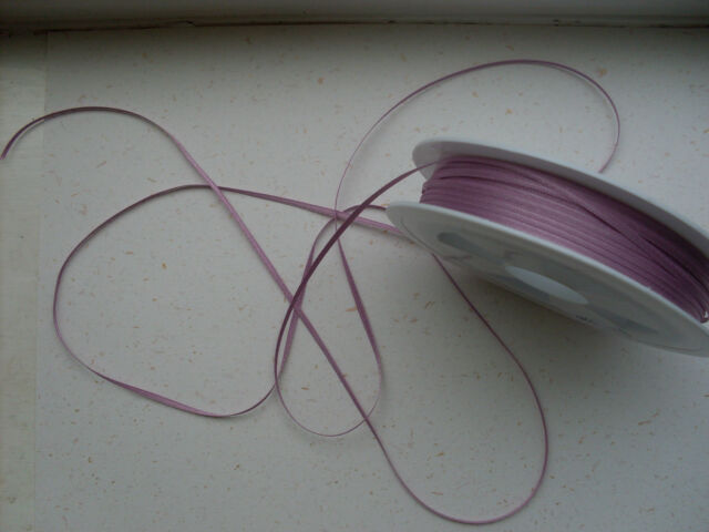 Haberdashery Supplies ~ 4 metres x 1.5mm Satin Ribbon DUSTY MAUVE ~