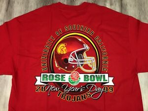 Vintage 2009 USC TROJANS Rose Bowl NEW YEAR S DAY Football T-Shirt L ... 1747d20008c6