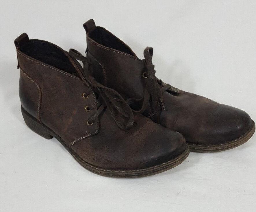 GBX Brisco Chukka botas al Tobillo Para Hombre De Cuero Marrón  2 M