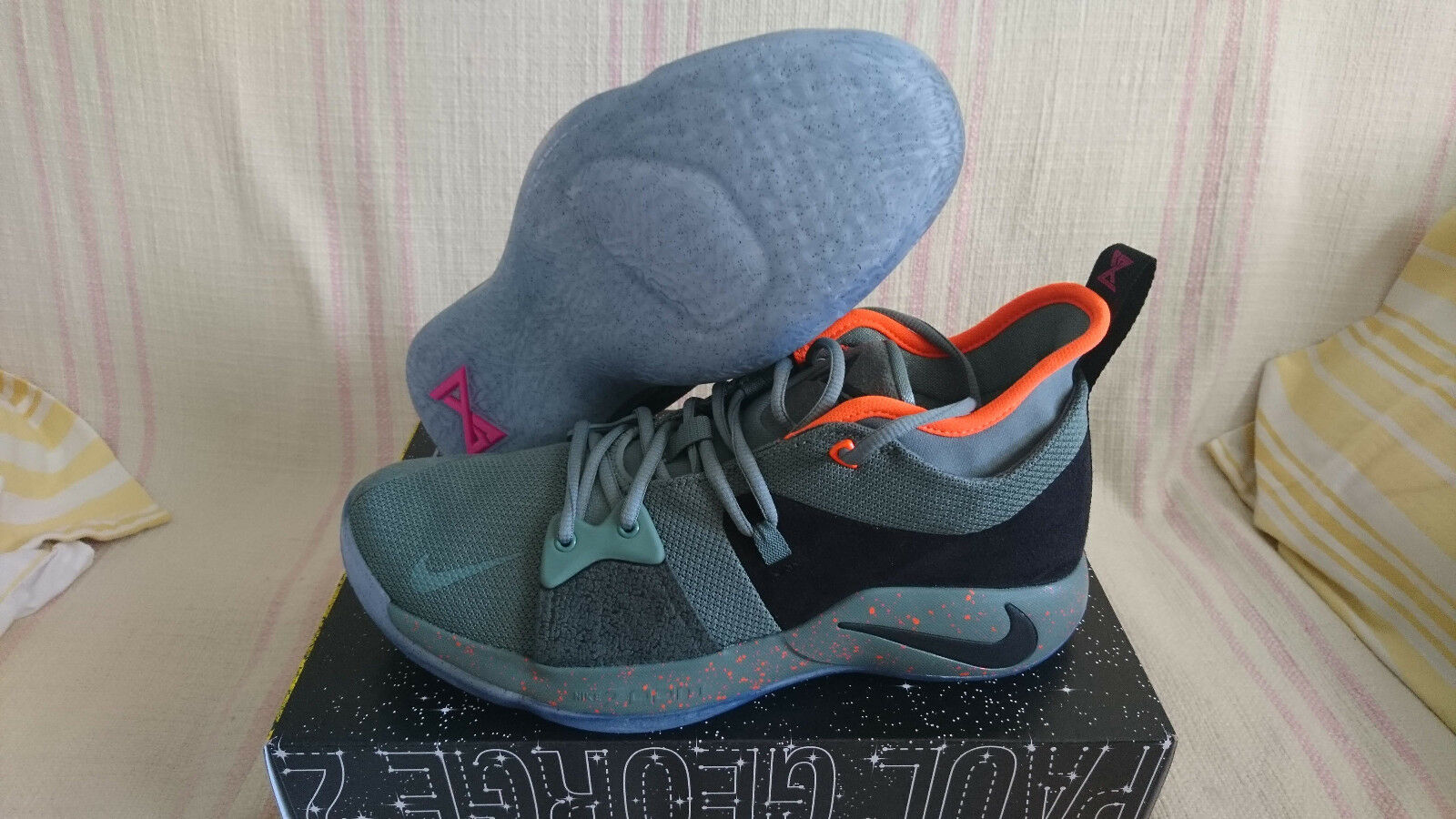 Nike PG 2 Palmdale arcilla verde negro Paul confortables George Basketball ao1750 300 confortables Paul 45e8a0