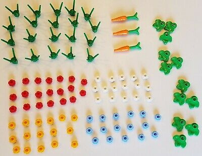 LEGO-NEW #3741-GREEN-PLANT-FLOWER STEM-3 STEMS-40 PIECES