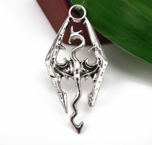 Wholesale Antique Alloy Fire Dragon Silver Charms Pendant Accessories Jewelry