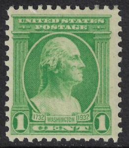 Scott-705-Mnh-1c-Washington-Bicentennial-Houdon-Busto-1932-sin-Usar-Nuevo