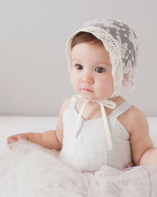 b292a8be788 Baby Girl Infant Newborn Kids Lace Hat Cap Beanie Bonnet Hats Hair  Accesorries