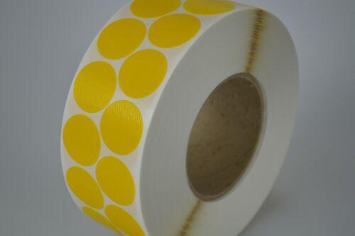 Gewebeklebepunkte gelb Klebepunkte Ø 30 mm Geweberonden Markierungspunkte