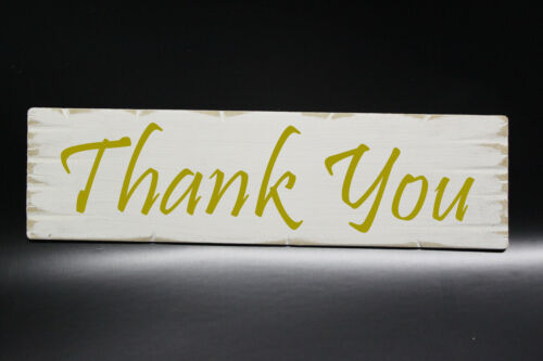 Rustic White Shabby Chic Wedding Thank You Sign Choice of Colours Photo Prop