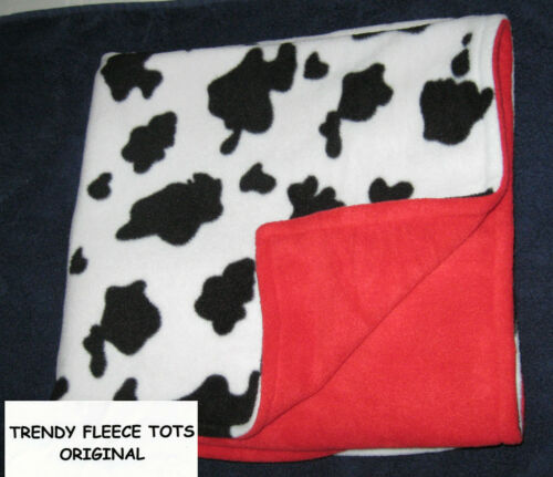 COW RED baby BLANKET car seat crib moses basket pram ALT COLORS reversible BN