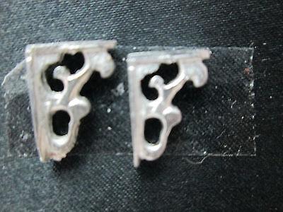 2 Dollhouse Miniature Unfinished Metal 1/2 scale wall brackets