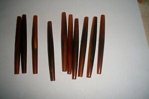 "25 PC,BUFFALO HORN, HAIR PIPE, OVAL YELLOW ( 100 mm ) 4"" LONG"