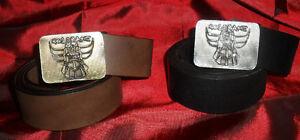 Kleidung & Accessoires GüNstig Einkaufen Gürtel Schwarzes Leder 4 Cm Schnalle Goldrake Kartons Manga Anime Oder Braun