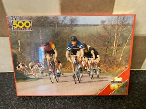 VINTAGE-RACING-CYCLISTS-500-PIECE-JIGSAW-PUZZLE-LAZER-PRODUCTS-LTD-NEW-SEALED